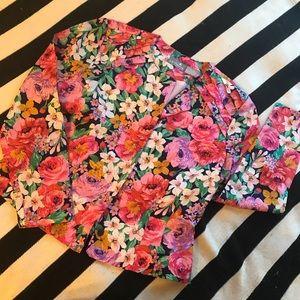 Vintage Floral Liz Claiborne Blazer Sz 12